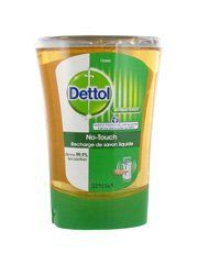 "Dettol No-Touch Classic Liquid Soap Refill 250ml by Dettol. $13.66. The liquid soap refill for Dettol No-Touch Automatic Soap Dispenser perfectly cleanses the hands and eliminate 99.9% of the bacterias.Morevoner, thanks to the hands automatic detector, no need to touch the pump of the soap distributor: the bacterias can't set on it.""Classic"" fragrance refill."