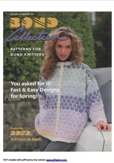 Bond Knitting Patterns : Link to download