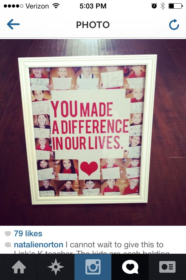 Teacher gift - How awesome would this be?  Take photos at the last holiday party and create for teacher appreciation!!!