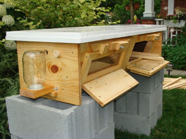 Hand made top bar beehive for bee conservation, education, pollination, honey extraction.. $425.00, via Etsy.