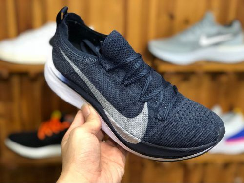 nike zoom vaporfly 4 flyknit obsidian metallic silver aj3857 405 4 rh pinterest co uk