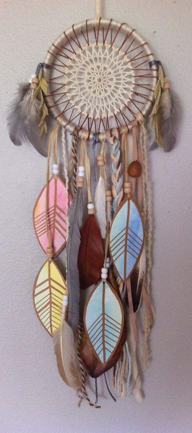 "Waldorf inspired 5"" dreamcatcher by Rachael Rice http://rachaelrice.com/art/custom-orders"