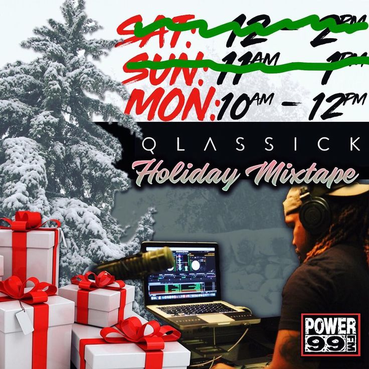 MERRY CHRISTMAS!!! Catch me on @power99philly & @iheartradio 10am - 12pm getting your Christmas Day started  #TuneIn and catch these holiday vibes! ||  #TheDefinition #TakeNotes#DjQlassick #ClubKingDJs #DJs #Philly #Jersey #Delaware #WorldWide  #WUSL #Power99 #iheartradio #HipHop #RnB #Radio #Mixshow #Saturday #Sunday #Monday #HappyHolidays #Christmas #ChristmasWeekend #ChristmasEve #ChristmasDay #XmasEve #XmasDay #HolidayWeekend #HolidayMixtape #ChristmasMixtape #LetsWork