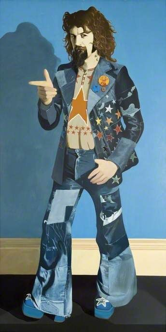 Billy Connolly (b.1942)  (diptych, right panel)  by John Byrne