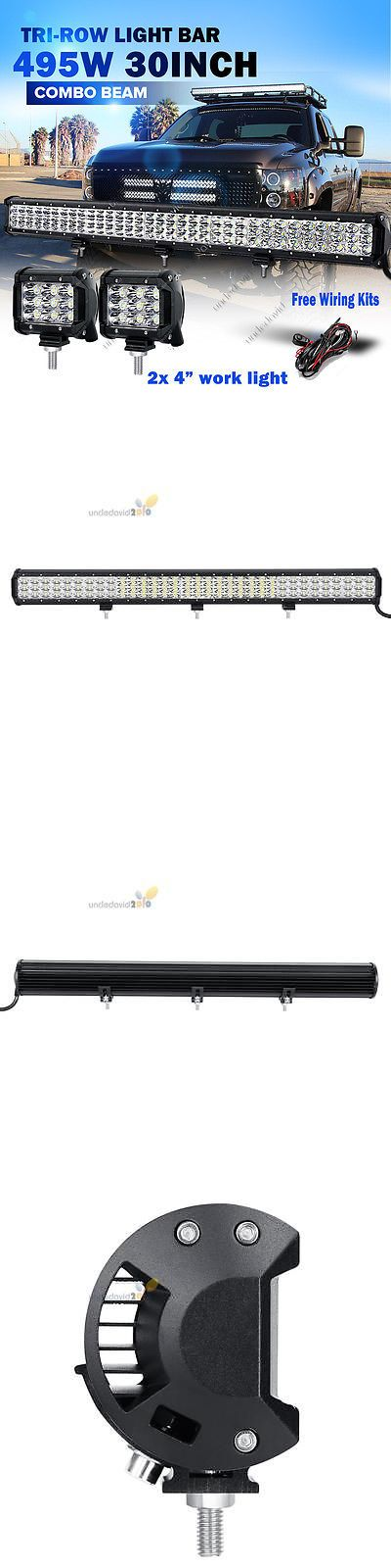 Car Lighting: 30 495W + 2X 45W Cree Tri-Row Led Light Bar Combo Offroad Suv Atv 4Wd Pickup 28 BUY IT NOW ONLY: $99.99