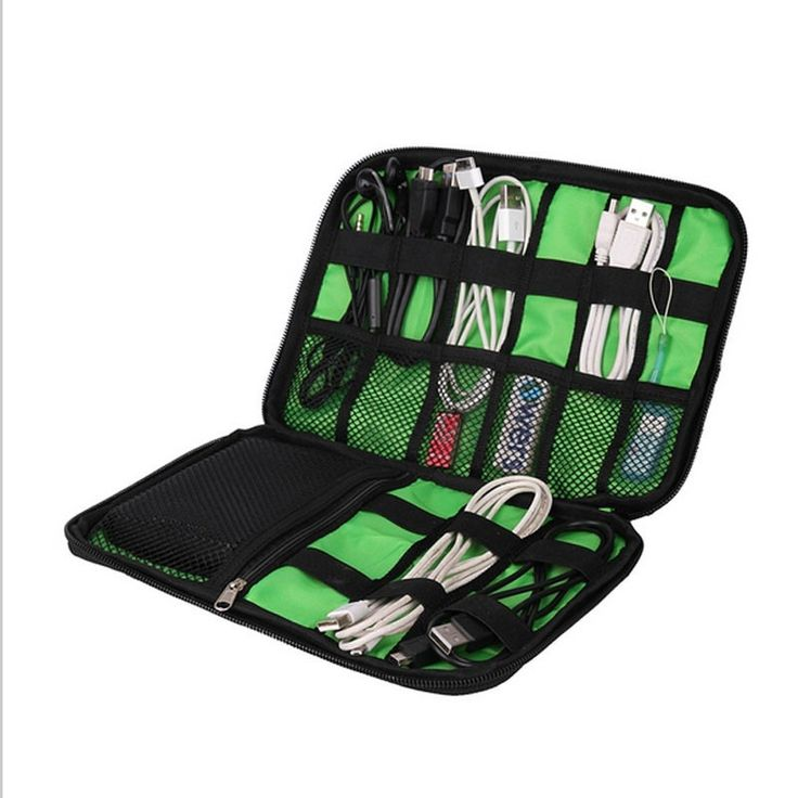 Organizer Sistem Kit Kasus Tas Penyimpanan Digital Gadget Devices USB Kabel Earphone Pena Insert Travel Portabel