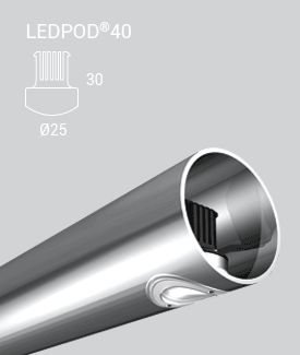 Handrail light LEDPOD 40 | KLIK Systems