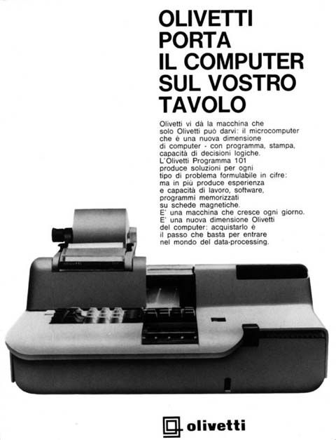 OLIVETTI PROGRAMMA 101-1°Personal C. – (1962/1964)