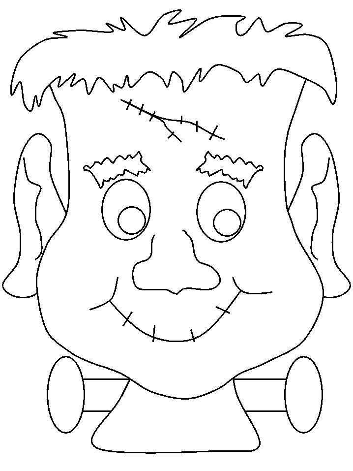 Frankenstein Coloring Print Out Scary Halloween MasksHalloween