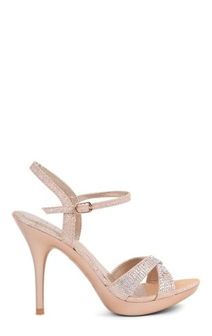Deb Shops Open Toe High Heel with Small Platform, Ankle Strap and Stones $30.67: Small Platform, Open Toe, Platform High Heels, When High, Men Shoes, Toe Small, Girls Shoes, Ankle Straps, Small Heels For Prom