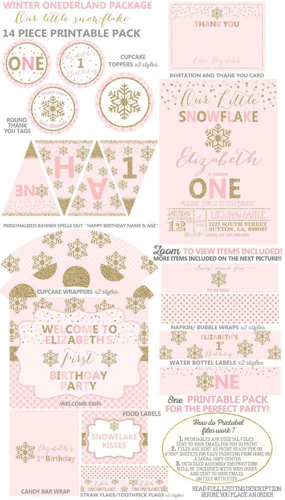 115 best Winter Onederland images on Pinterest | Birthdays ...