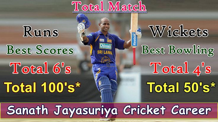 Today We Are Sharing an Informative Video of a Famous Sri Lankan Cricketer Sanath Jayasuriya Who is Also Known as With Nickname Master Blaster, Matara Hurricane and Matara Mauler. Yes...In This Video We Collect Complete Information About Sanath Jayasuriya Cricket Career Like...ODI Debut, Test Debut, IPL Debut, ODI Career, Test Career, IPL Career, Total Matches, Highest Score, Total Runs, Total Wickets, Best Score, Best Bowling, Total Sixes and Fours, Centuries and Fifties etc...