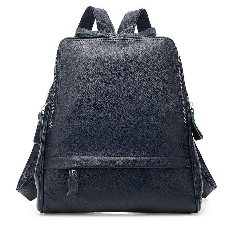 2016 Bolsas Mochila Fashion GENUINE Leather Backpacks For Teenage Girls Women Outdoors Backpack School Bags Rugzak Sac A Dos