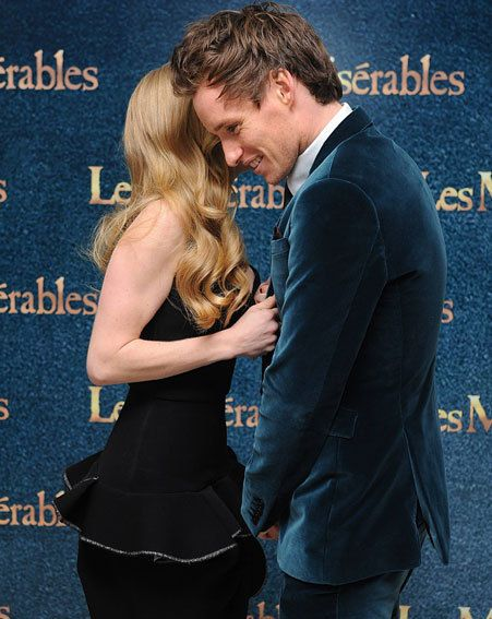 Eddie Redmayne and Amanda Seyfried at the New York premiere of Les Miserables.