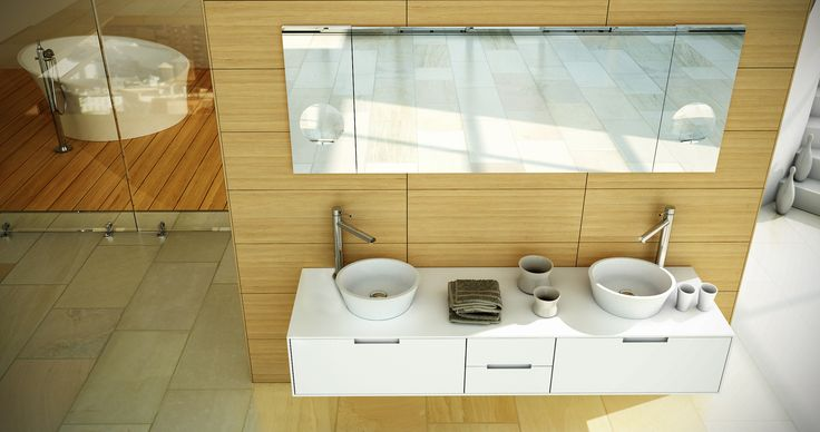 EVOQUE Collection... Cabinet and on top basins.