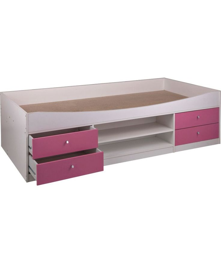 Buy Malibu Cabin Bed Frame - Pink On White at Argos.co.uk - Your Online Shop for Children's beds, Children's beds.