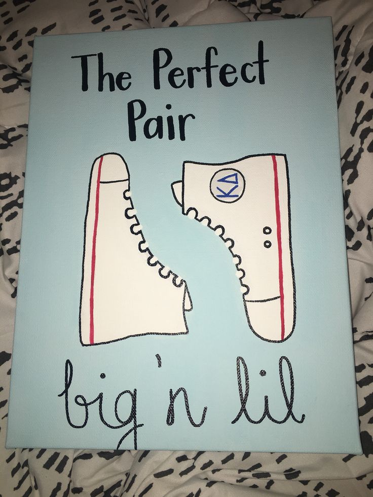 Sorority Big Little Converse Canvas