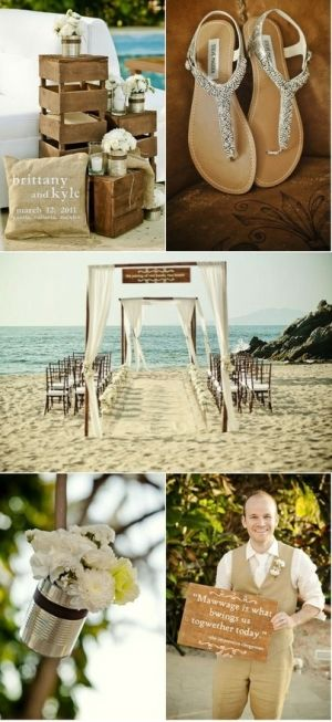Rustic beach wedding Search on Indulgy.com  Dig this ceremony set up, especially the rocky outcropping on the right.