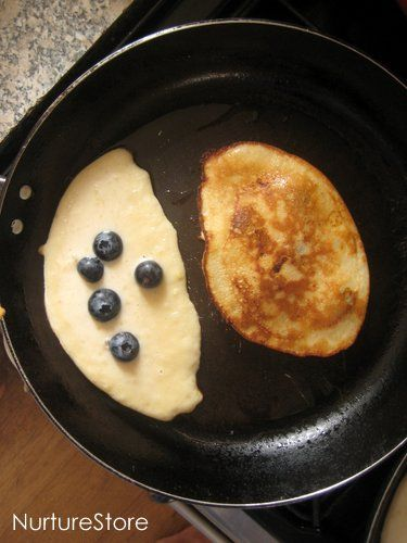 banana and blueberry pancakes...made these this morning...so good!!