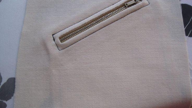 #15 Enkel kavaj/jack-ficka med blixtlås #zipper