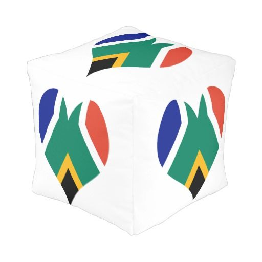 South Africa flag pouf