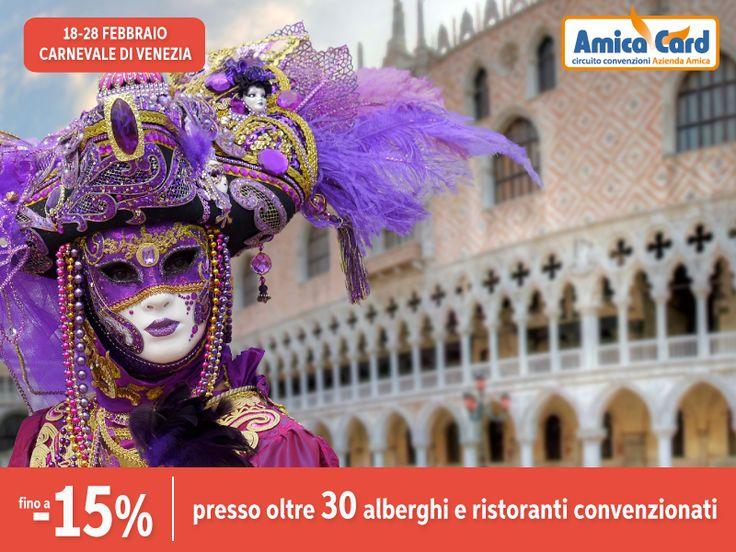 BALLI IN MASCHERA E SFILATE IN COSTUME...VIENI A VENEZIA CON AMICA CARD. Il #Carnevale di Venezia è uno dei più famosi al mondo, ricco di #maschere tradizionali e #costumi d'epoca. Vieni al Carnevale fino al 28 febbraio, scegli tra gli oltre 30 #alberghi e #ristoranti sul sito AmicaCard.it e contattalo per usufruire di #sconti fino al 15%. #Venezia #città #Italia #risparmio #amicacard #convenzioni #costume #maschera