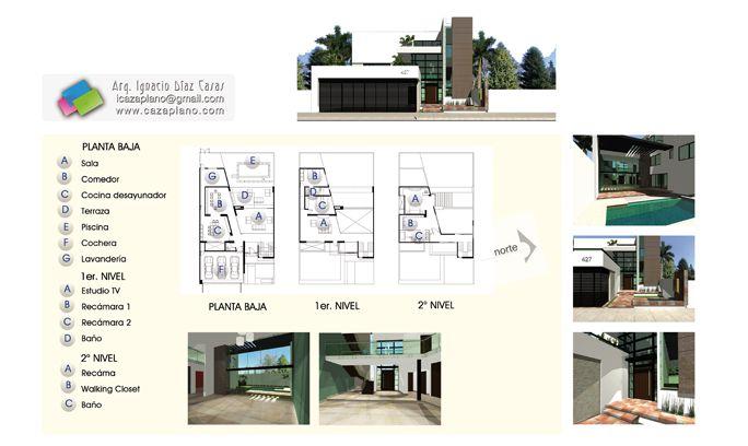 8 best planos de casa images on pinterest house for Planos de construccion