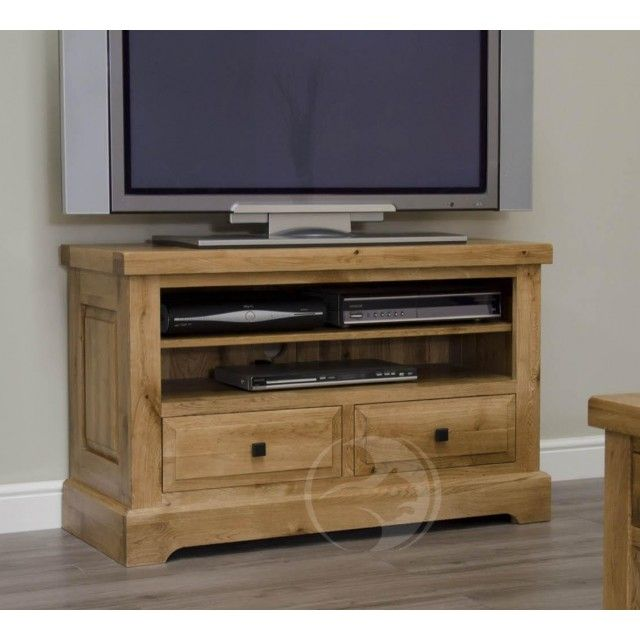 Details  Skilfully constructed using traditional techniques, our attractive Coniston Rustic Solid Oak TV Unit has an appealingly chunky, uncomplicated style; ideal for almost every room setting.  As you'd expect of a quality piece of solid oak furniture, refined features have been incorporated, such as dovetail joints front and back, solid oak drawer boxes, an adjustable oak shelf and chic metal handles, which can be positioned as a square or diamond.  We are pleased to state that all tim...