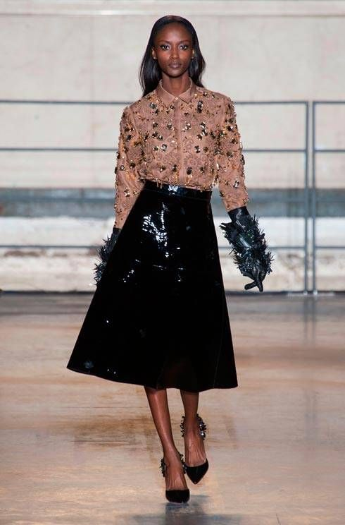 Alessandro Dell'Acqua's debut show for Rochas autumn/winter 14