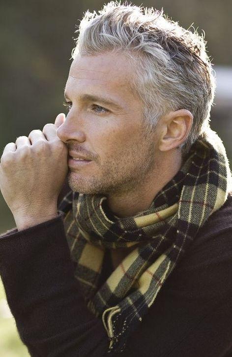 11 best mannen model grijs images on pinterest grey hair men s