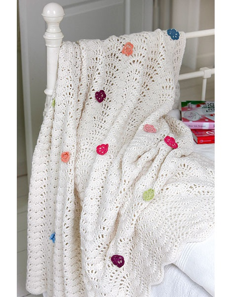 Flower blanket tutorial, in Danish