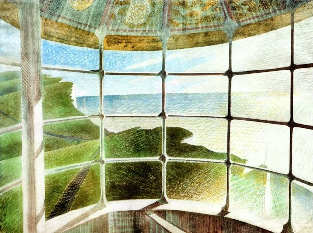 Belle Tout Lighthouse watercolour Eric Ravilious.