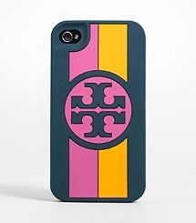 Tory Burch iPhone case. Consider it purchased.Iphone Cases, Stripes Silicone, Tory Burch Iphone, Silicone Phones, Burch Logo, Logo Stripes, Phones Cases, Burch Cases, Rosyln Logo