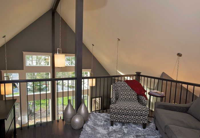 The Anchorage home package from Linwood Homes features a loft that overlooks the great room and could be used as a seating area, office or a reading nook.