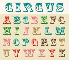circus lettering - Google Search