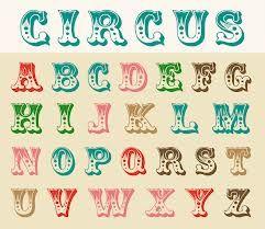 circus alphabet font - Google Search