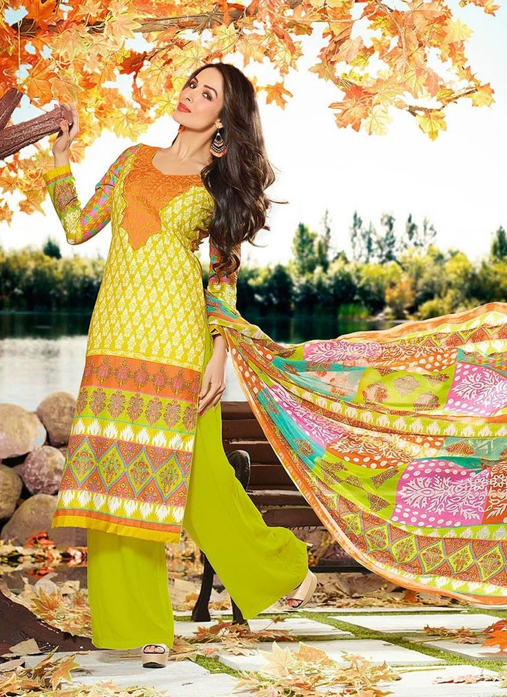 Shop online yellow cotton palazzosuit for Luxury online shopping