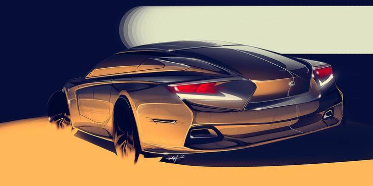Lexus Sedan Concept + process video on Behance