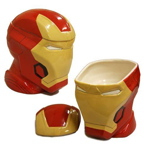 BLOG DOS BRINQUEDOS: Homem de Ferro Ceramic Cookie Jar