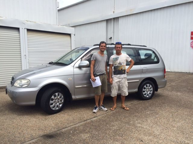 Aldo and Raphael picked up this van to travel our country in. They're from Italy and France. Have a great trip.