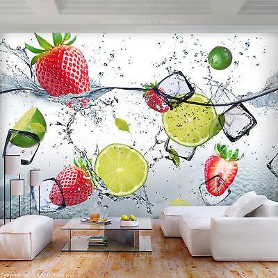 vlies fototapete k che tapete obst 3d effekt citronen. Black Bedroom Furniture Sets. Home Design Ideas