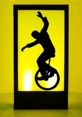 Event Prop Hire: Unicycle Silhouette Panel Prop