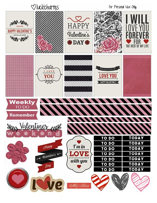 FREE Black and Pink Valentines by Luckicharms