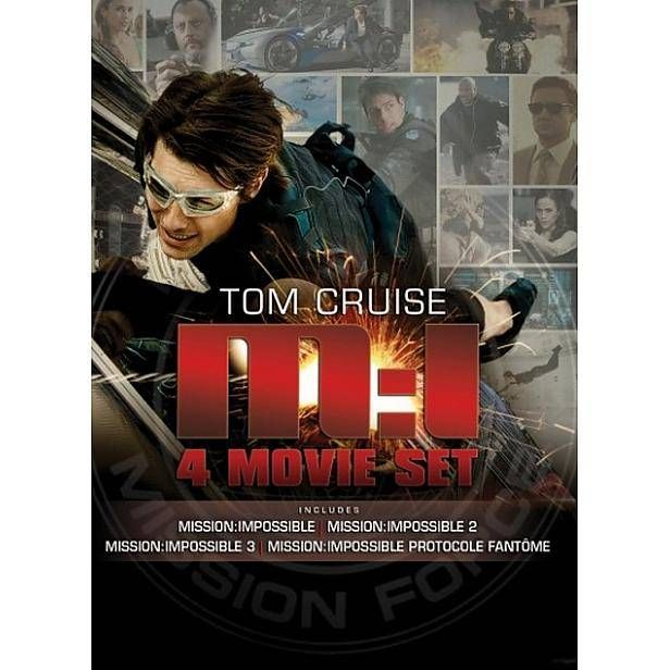 Mission: Impossible 1 t/m 4 (4DVD) #missionimpossible #dvd #tomcruise