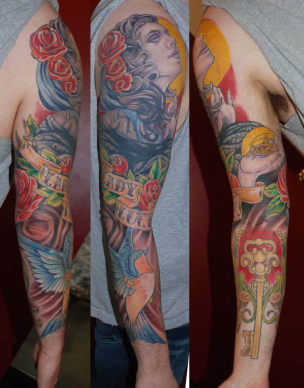 tattoo cover up ideas  | cover up sleeve complete