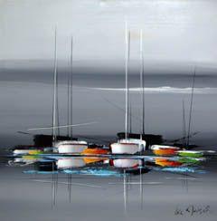 tableaux modernes de bateaux