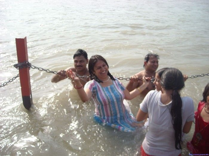 Aunty bathing in River | Real Life Xposers | Pinterest ...