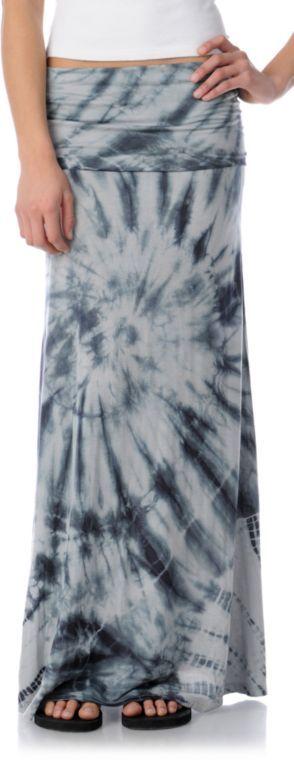 $39.95 Billabong Girls Skirtskee Tie Dye Maxi Skirt