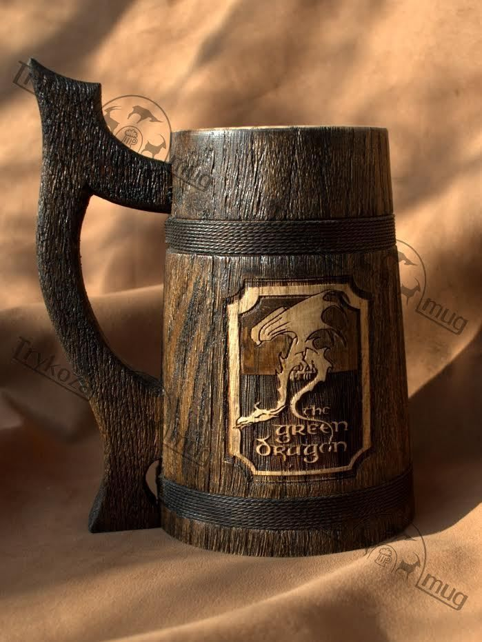 Wooden Beer Mug 0.7l (23oz) Wooden Tankard Beer Stein men gift Gift for men  #Handmade