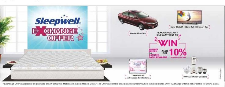 Sleepwell Mattress Exchange Offer Meramattress Pinterest